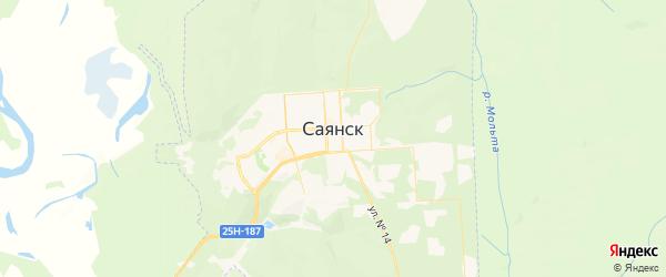 Карта Саянска с районами, улицами и номерами домов: Саянск на карте России