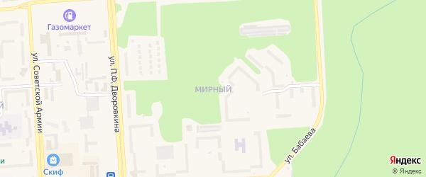 Мирный микрорайон на карте Саянска с номерами домов