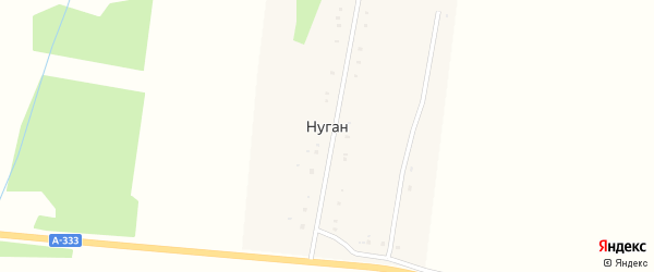 Улица Братьев Агуновых на карте улуса Нуган с номерами домов