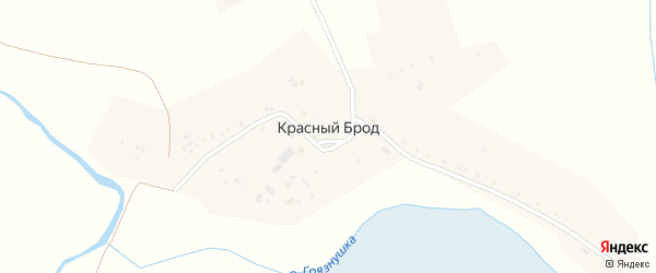 Улица Иванова на карте деревни Красного Брода Иркутской области с номерами домов