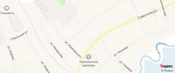 Банковский переулок на карте села Голуметь Иркутской области с номерами домов