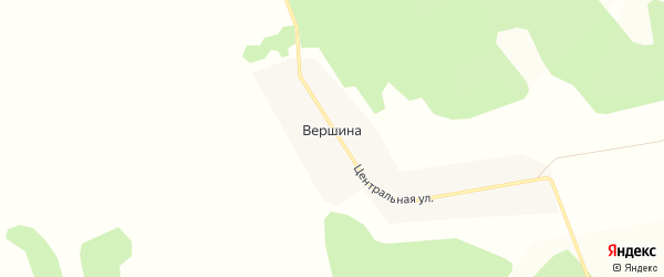 Карта деревни Вершины в Иркутской области с улицами и номерами домов