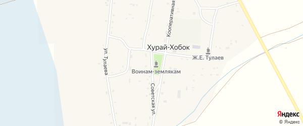 Советская улица на карте улуса Хурай-Хобок с номерами домов