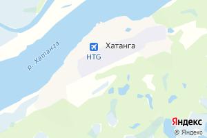 Карта с. Хатанга Красноярский край