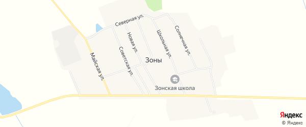 Карта села Зоны в Иркутской области с улицами и номерами домов