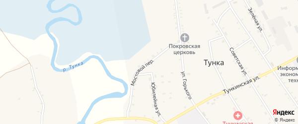 Мостовой переулок на карте села Тунки с номерами домов