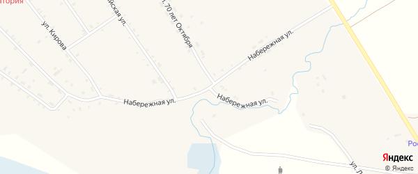 Набережная улица на карте села Тунки с номерами домов