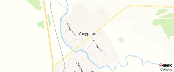 Территория Культурка-1 на карте деревни Ункурлик Иркутской области с номерами домов
