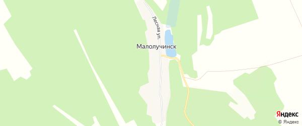 Карта деревни Малолучинск в Иркутской области с улицами и номерами домов