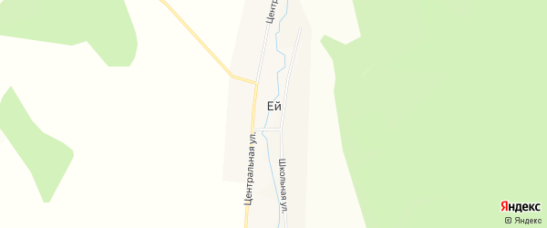 Территория местность У кошары на карте деревни Ей Иркутской области с номерами домов