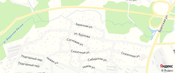 Улица Бурлова на карте Усть-Илимска с номерами домов