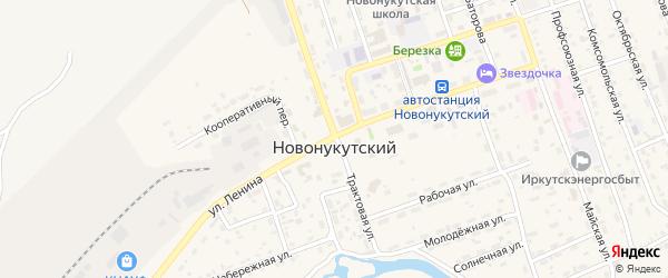 Улица Авиаторов на карте Новонукутского поселка Иркутской области с номерами домов