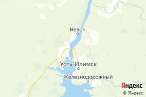Карта г. Усть-Илимск Иркутская область
