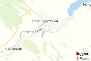 Карта пос. Новонукутский Иркутская область
