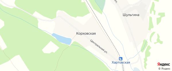 Карта Корховская деревни в Иркутской области с улицами и номерами домов