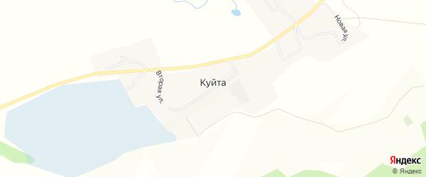 Карта села Куйта в Иркутской области с улицами и номерами домов