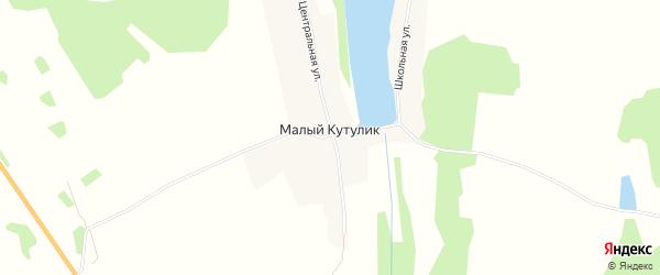 Карта деревни Малого Кутулика в Иркутской области с улицами и номерами домов