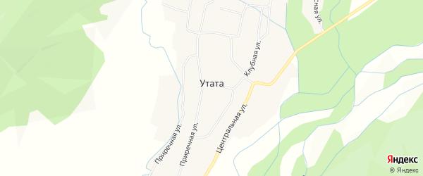 Карта улуса Утата в Бурятии с улицами и номерами домов
