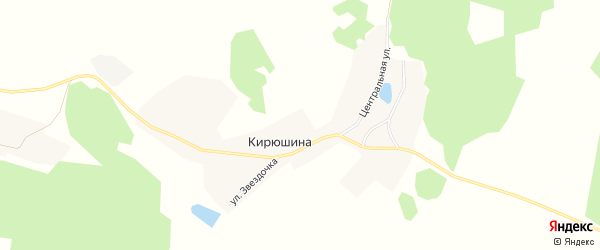 Карта деревни Кирюшина в Иркутской области с улицами и номерами домов