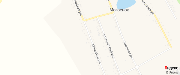 Юбилейная улица на карте села Могоенок Иркутской области с номерами домов
