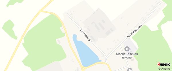 Трактовая улица на карте села Могоенок Иркутской области с номерами домов