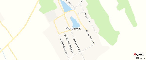 Карта села Могоенок в Иркутской области с улицами и номерами домов