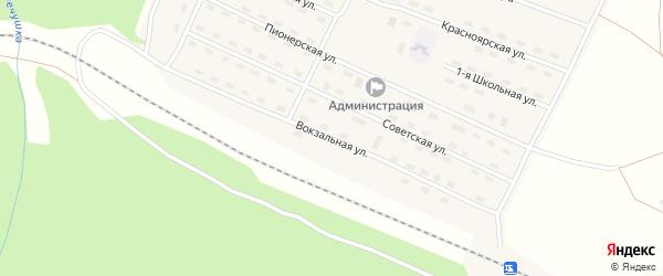 Вокзальная улица на карте поселка Речушки Иркутской области с номерами домов