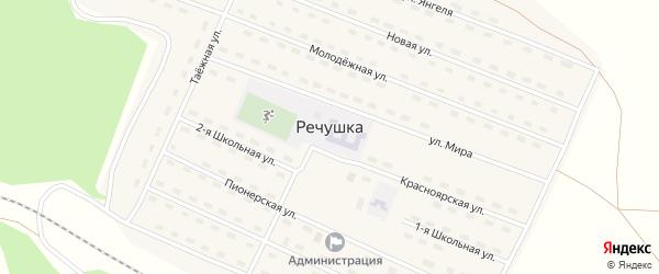 Территория Промплощадка на карте поселка Речушки Иркутской области с номерами домов