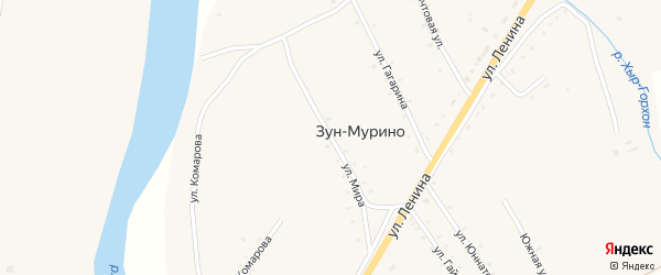 Улица Мира на карте поселка Зун-Мурино с номерами домов