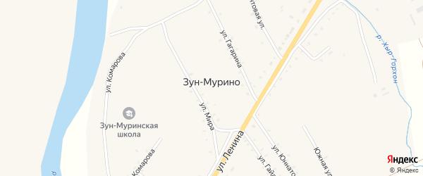 Школьная улица на карте поселка Зун-Мурино Бурятии с номерами домов