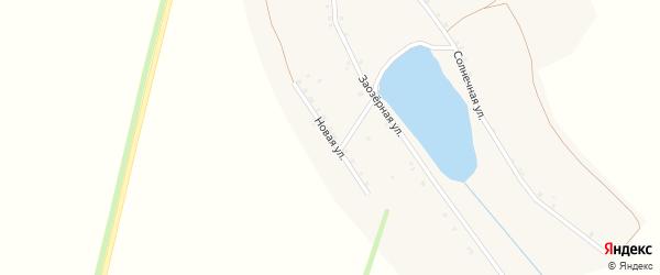 Новая улица на карте деревни Табук Иркутской области с номерами домов