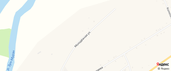Молодежная улица на карте поселка Зун-Мурино с номерами домов