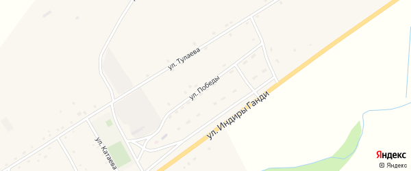 Улица Победы на карте поселка Зун-Мурино Бурятии с номерами домов