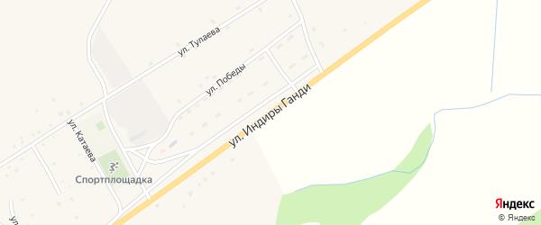 Улица И.Ганди на карте поселка Зун-Мурино Бурятии с номерами домов