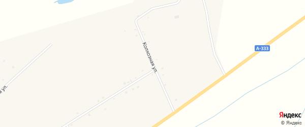Колхозная улица на карте поселка Зун-Мурино Бурятии с номерами домов