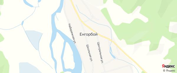 Карта Енгорбой улуса в Бурятии с улицами и номерами домов