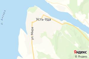 Карта пгт Усть-Уда Иркутская область