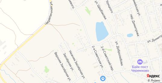 Южный переулок в Черемхово с номерами домов на карте. Спутник и схема онлайн