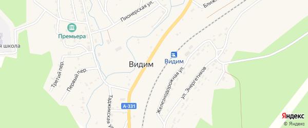 Второй переулок на карте поселка Видима с номерами домов