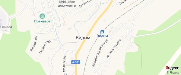 Таджикская улица на карте поселка Видима с номерами домов