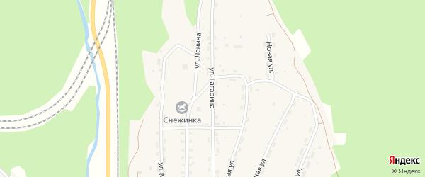Улица Гагарина на карте Чистополянского поселка Иркутской области с номерами домов