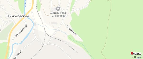 Заярская улица на карте Чистополянского поселка Иркутской области с номерами домов