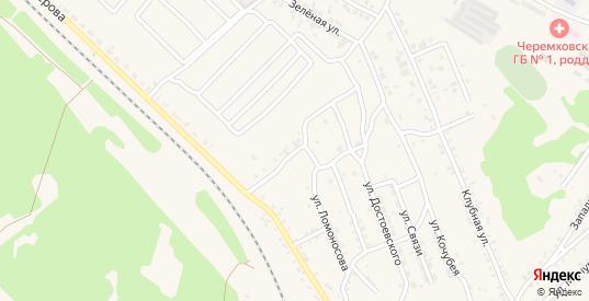 Улица 1-я Малого Артема в Черемхово с номерами домов на карте. Спутник и схема онлайн