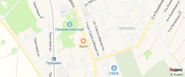Сакко и Ванцетти 1-я улица на карте Черемхово с номерами домов