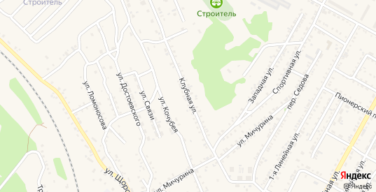 Клубная улица в Черемхово с номерами домов на карте. Спутник и схема онлайн