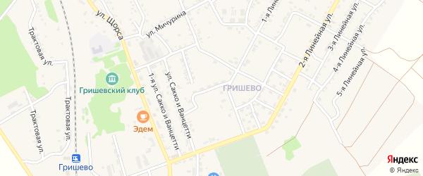 Дальневосточный переулок на карте Черемхово с номерами домов