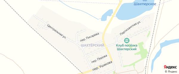 Переулок Писарева на карте Черемхово с номерами домов