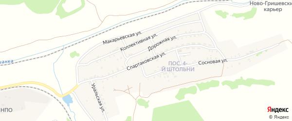 Спартаковская улица на карте Черемхово с номерами домов