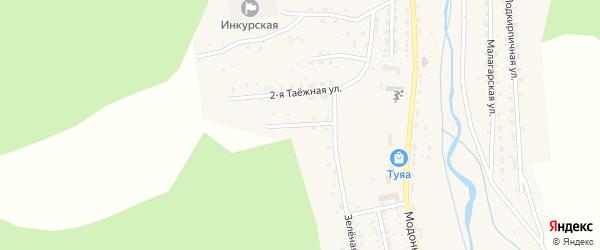 Таежная 3-я улица на карте Закаменска с номерами домов