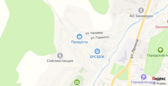 Улица Бабушкина в Закаменске с номерами домов на карте. Спутник и схема онлайн